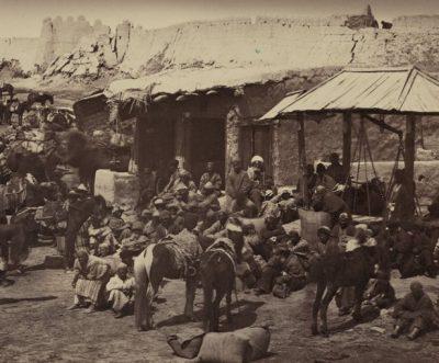 Аулие ата. Конный базар