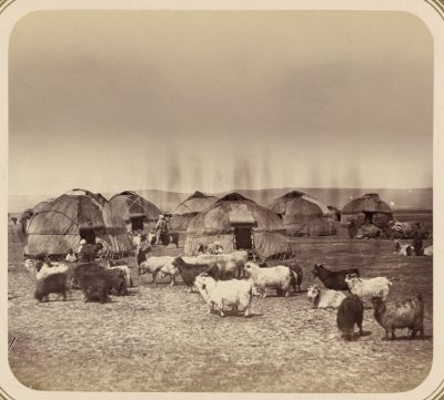 Киргизское летнее стойбище недалеко от Чимкента