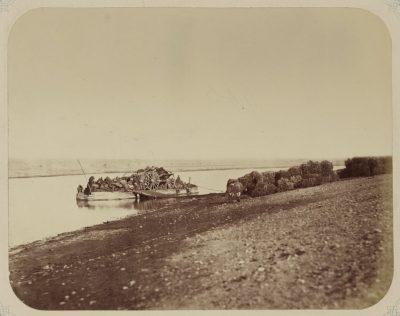 Переправа через реку Сырдарья вблизи Перовска
