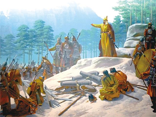 Духовные святыни: трон Абылай хана