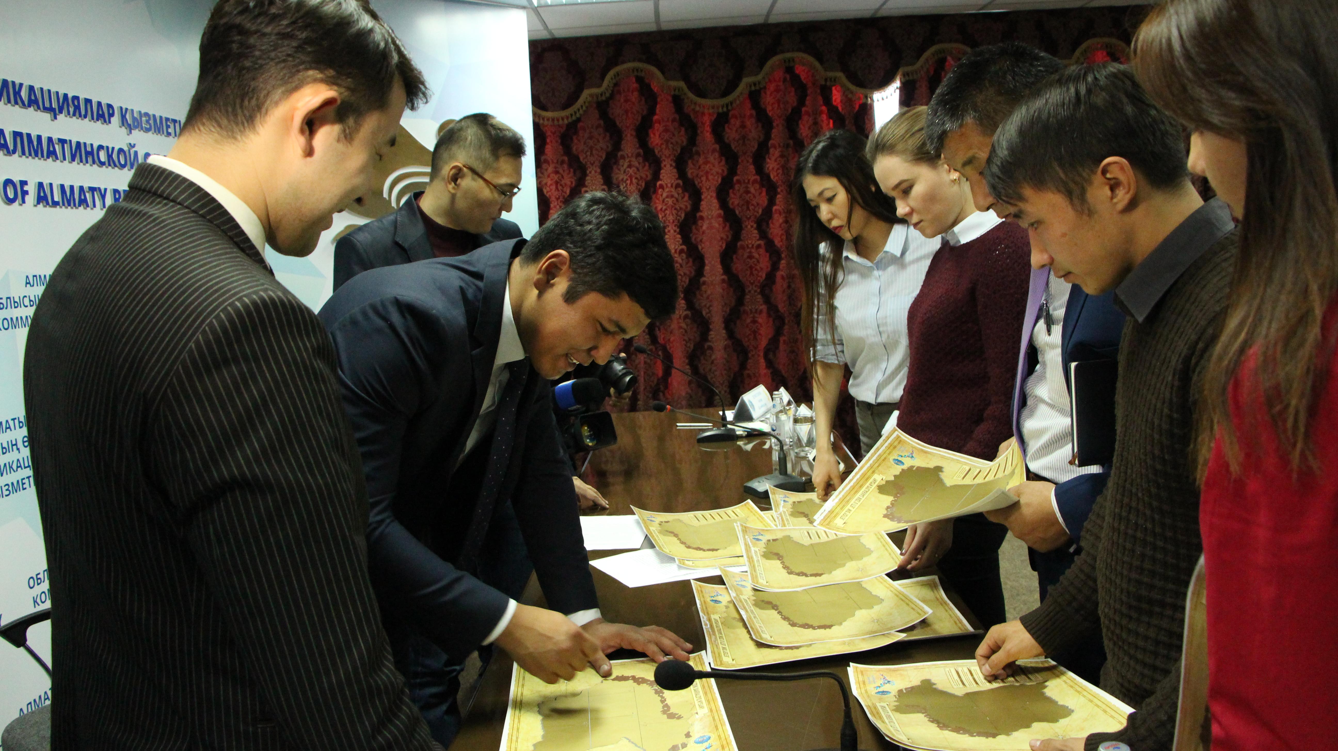 Скретч-карту Жетысуского края разработали в рамках «Рухани Жаңғыру»